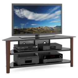 Corliving Alturas 60-inch x 24-inch x 18.5-inch TV Stand in Brown