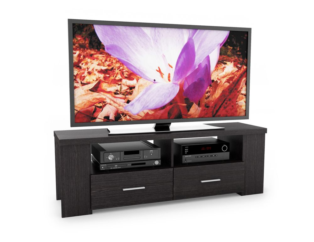 "B-101-RBT Bromley 60"" TV / Component Bench in Ravenwood Black B-101-RBT Canada Discount"