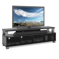 Sonax B-003-RBT Bromley 75-inch 2-Tier TV Bench in Ravenwood Black