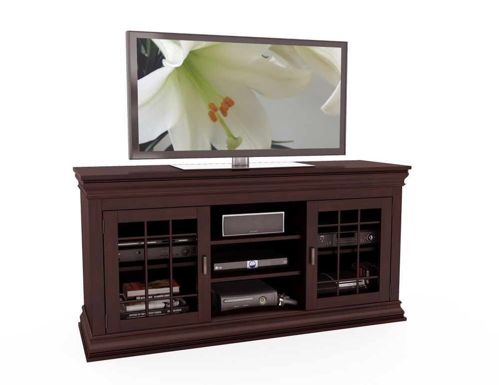 "B-231-NCT Carson 60"" Wood Veneer TV / Component Bench"