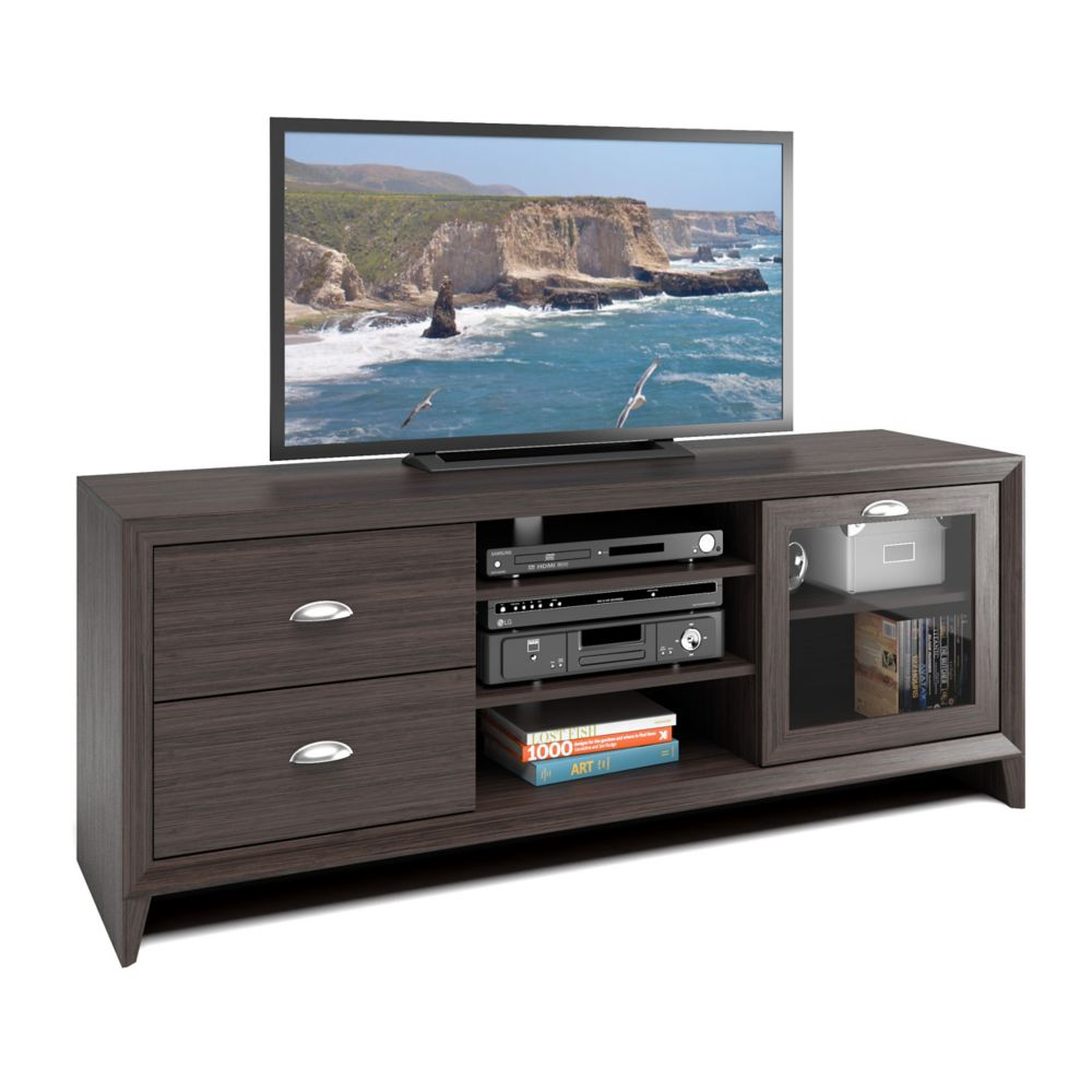 TEK-575-B Kansas TV Bench in Modern Wenge Finish