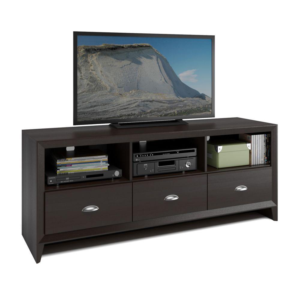 Corliving TEK-582-B Kansas TV Bench in Espresso Finish