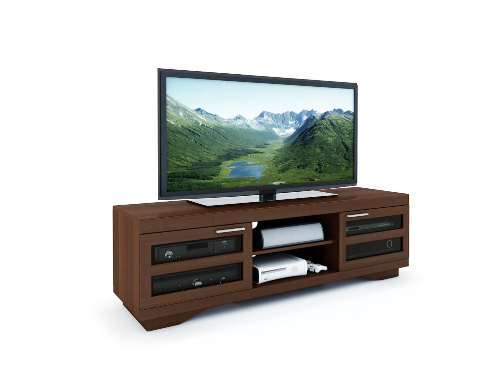 "B-097-RGT Granville 66"" Warm Cinnamon Wood Veneer TV Bench B-097-RGT Canada Discount"