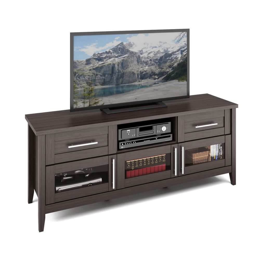 TJK-678-B Jackson TV Bench in Modern Wenge Finish