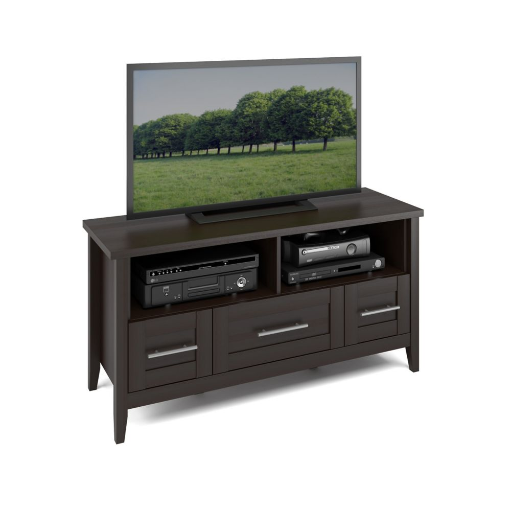 Corliving Tjk 685 B Jackson Tv Bench In Espresso Finish The Home Depot Canada