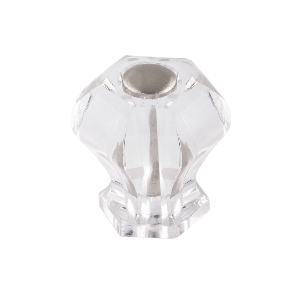Richelieu Contemporary Acrylic Knob 1 1/4 in (31.5 mm) Dia - Clear - Montreuil Collection