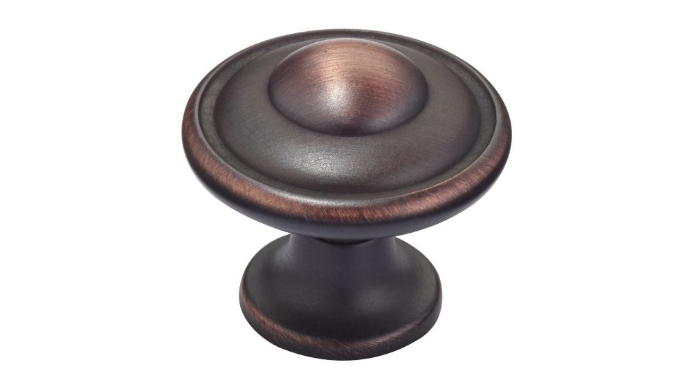 Classic Metal Knob - Brushed Oil-Rubbed Bronze - 30 Mm Dia.