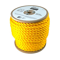 Everbilt 3/4 Inch x 150 Feet  Twisted Yellow Polypropylene Rope