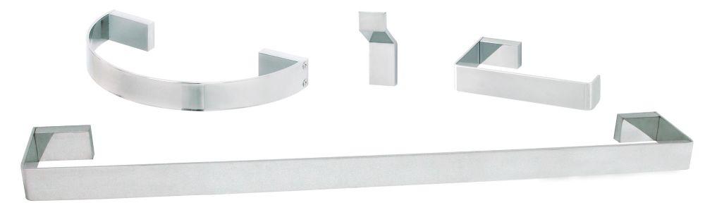 Loft 4-Piece Bath Accessory Set Chrome