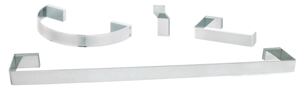 Loft 4-Piece Bath Accessory Set Chrome