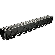 40-inch Storm Drain Channel with Stainless Steel Grate