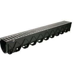 RELN Storm Drain Deep Series 40 inch Channel Drain with Stainless Steel Grate