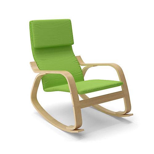 Aquios Cotton Rocking Chair in Green