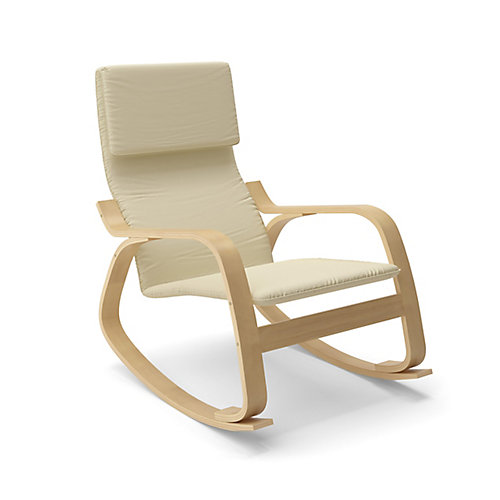 Aquios Cotton Rocking Chair in White