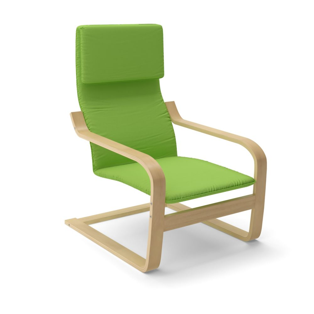 LBQ-736-C Aquios Bentwood High Back Armchair in Apple Green
