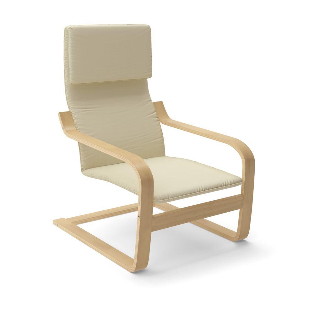 LBQ-786-C Aquios Bentwood High Back Armchair in Warm White