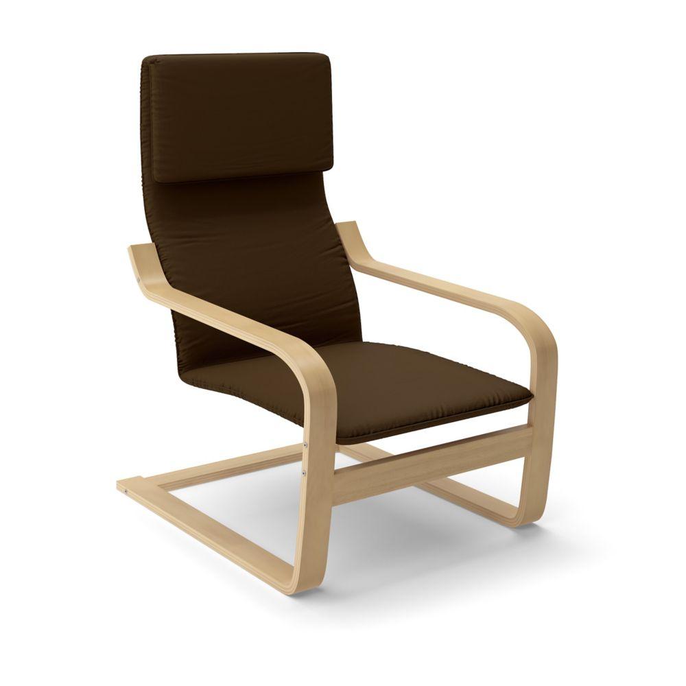 LBQ-796-C Aquios Bentwood High Back Armchair in Dark Coffee