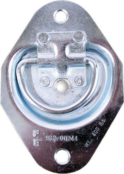 Anneau pour corde à encastrer 5 po.(L) x 3-1/2 po.(l) x 3/8 po.(h) (ens. de 2)