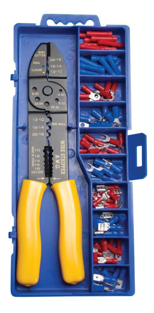 TERMINAL KIT W/Crimp Tool Case Terminals