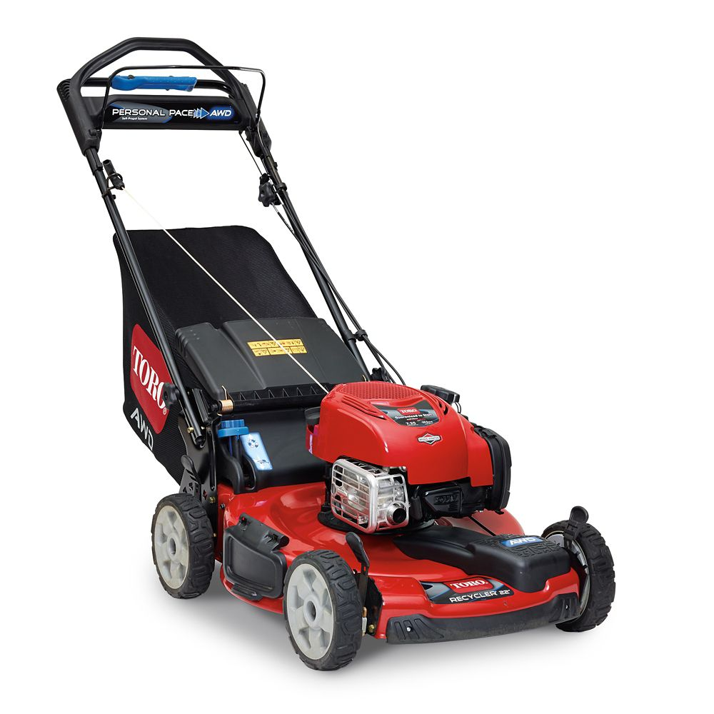 22-inch Recycler Self-Propelled Gas Lawn Mower with All-Wheel Drive
