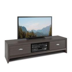 Corliving TLK-871-B Lakewood TV Bench in Modern Wenge Finish