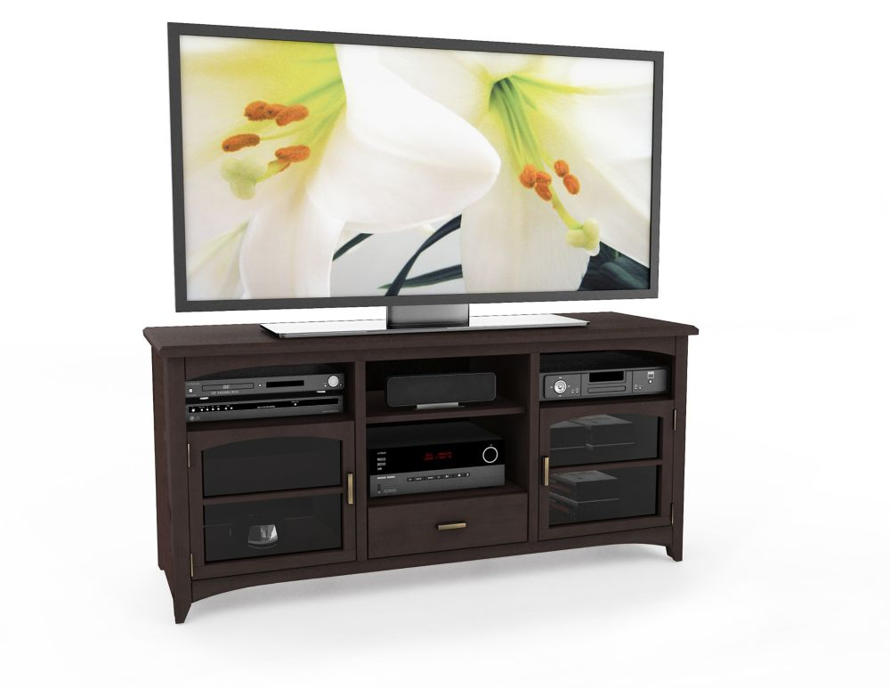 "B-094-PPT West Lake 60"" TV / Component Bench in Dark Espresso"