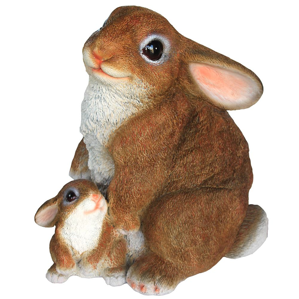 Bunny With Baby Statue