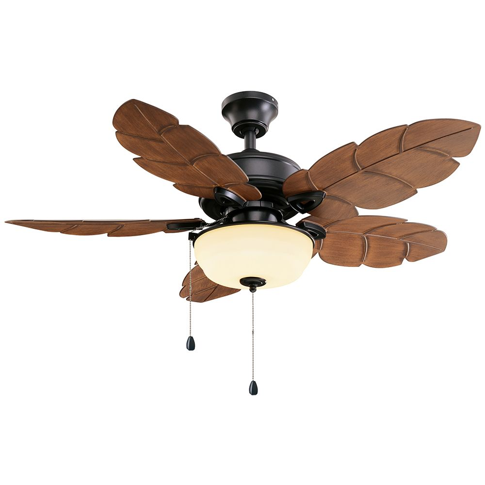 Palm Cove 44-inch Indoor/Outdoor Natural Iron Ceiling Fan