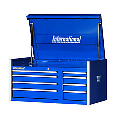 42 Inch. Professional Series 8 Drawer, Extra Deep Top Chest, Blue