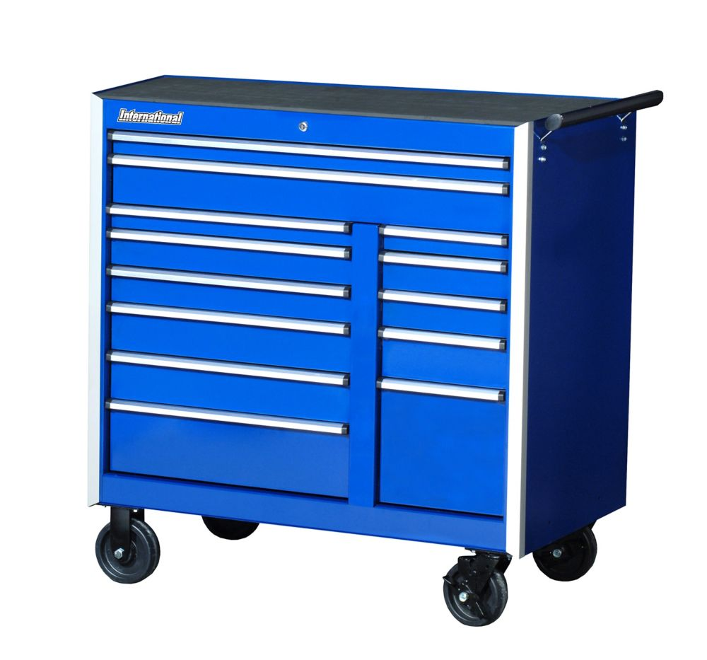 42 Inch. Professional Series  13 Drawer Extra Deep Cabinet, Blue