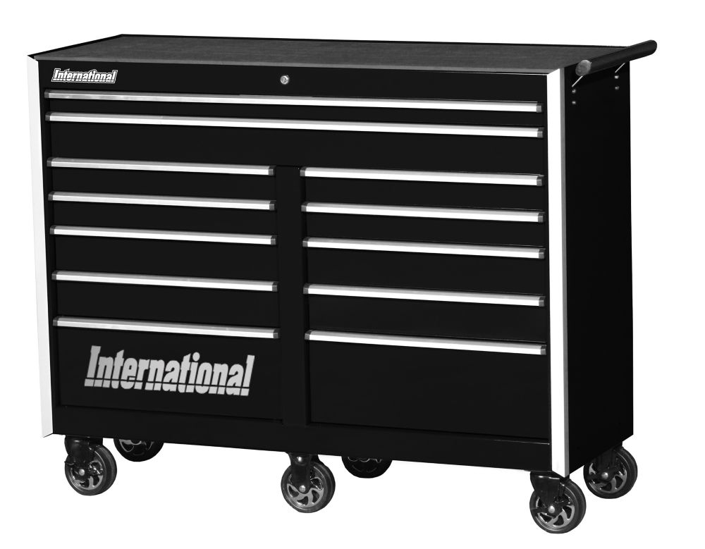 Professional Series, 54 Inch. 12 Drawer Tool Cabinet, Black