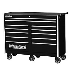 International Professional Series 54-inch 12-Drawer Tool Cabinet in Black