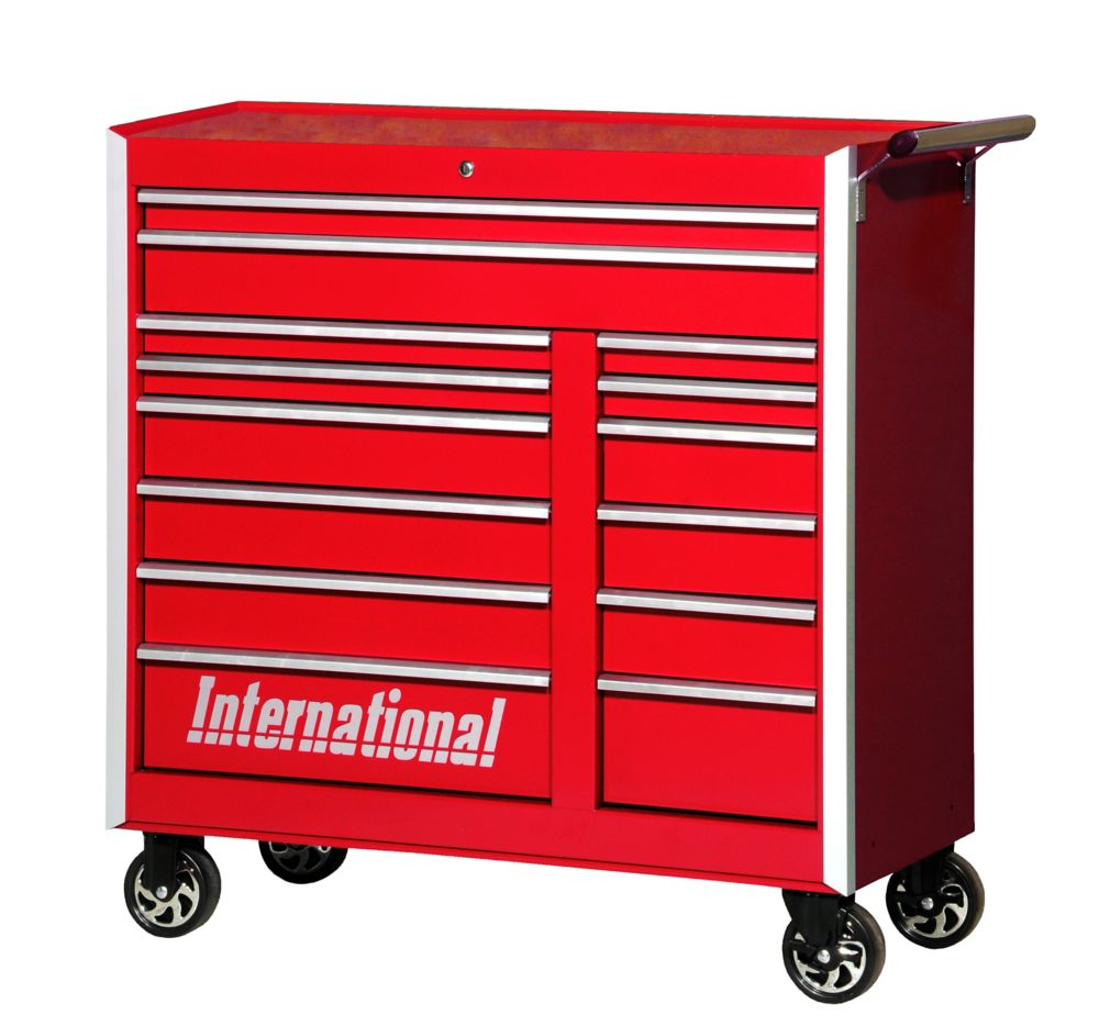 International 42 Inch Professional Series 14 Drawer Red Tool ...