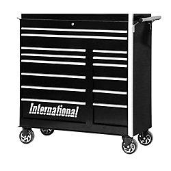 International 42 Inch Professional Series 14 Drawer Black Tool Cabinet