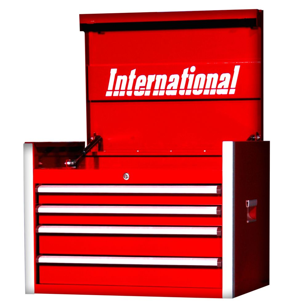 27 Inch Professional Series 4 Drawer Tool Chest, Red