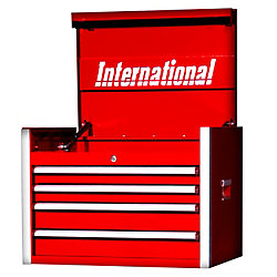 International 27 Inch Professional Series 4 Drawer Tool Chest, Red