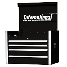 27 Inch Professional Series 4 Drawer Tool Chest, Black