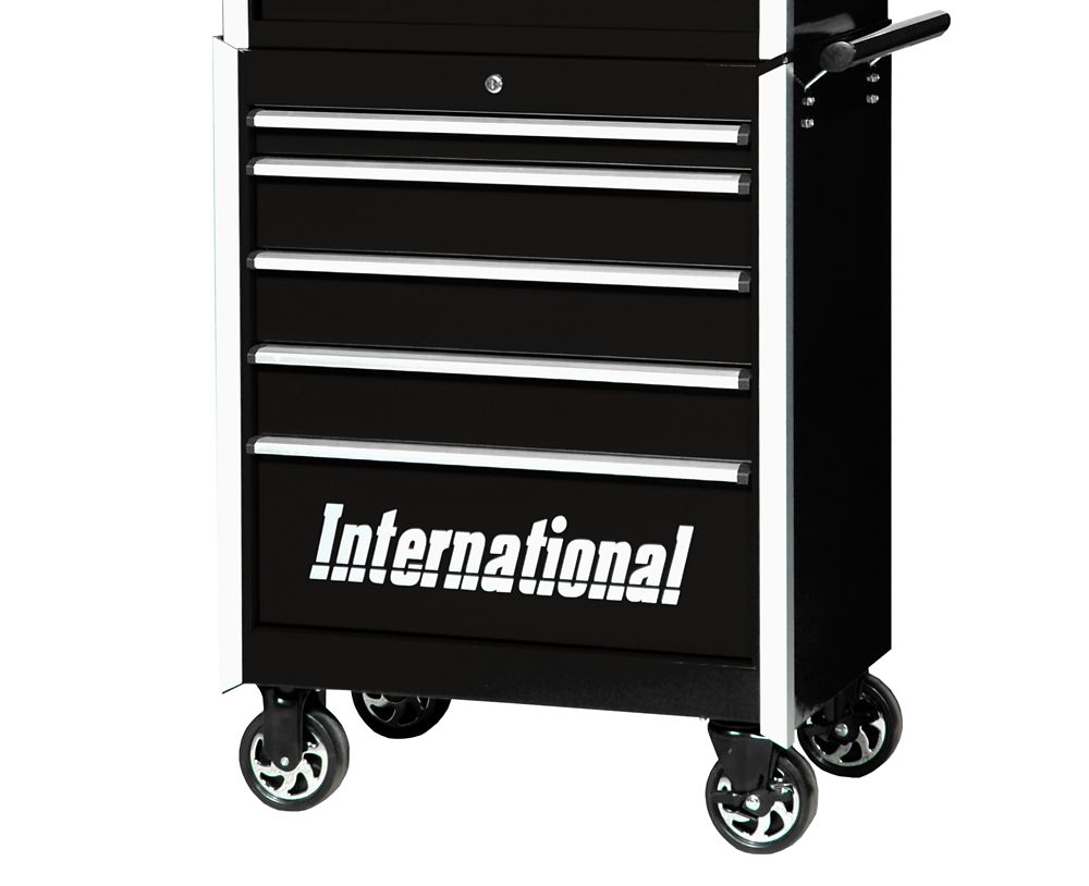 27 Inch Professional Series 5 Drawer Tool Cabinet, Black