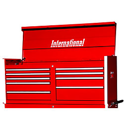 International 54 Inch Professional Series 9 Drawer Tool Chest, Red