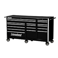 Professional Series 75-inch 17-Drawer Deep Tool Cabinet in Black