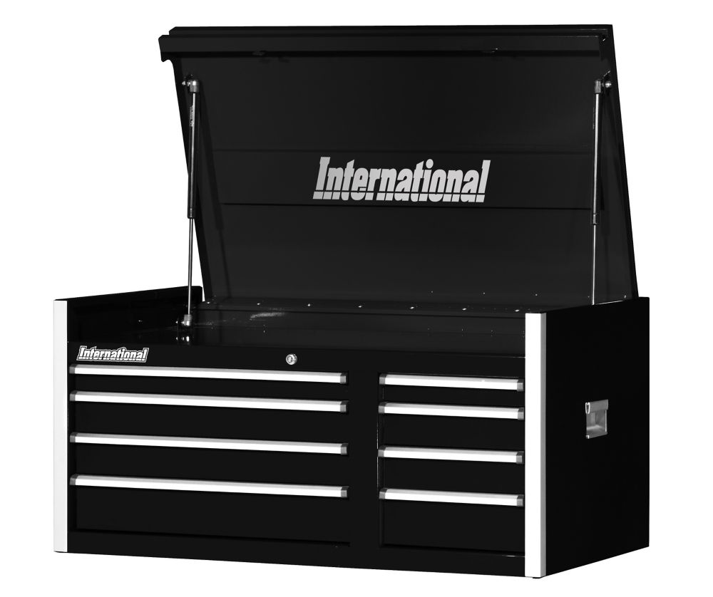 42 Inch. Professional Series 8 Drawer, Extra Deep Top Chest, Black PRT-4208BK Canada Discount