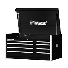 42 Inch. Professional Series 8 Drawer, Extra Deep Top Chest, Black