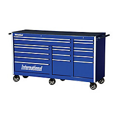 Professional Series 75-inch 17-Drawer Deep Tool Cabinet in Blue