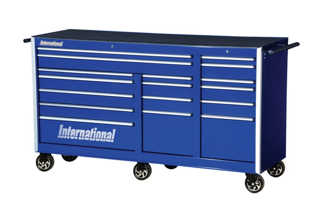 75 Inch. Professional Series 17 Drawer Deep Tool Cabinet, Blue
