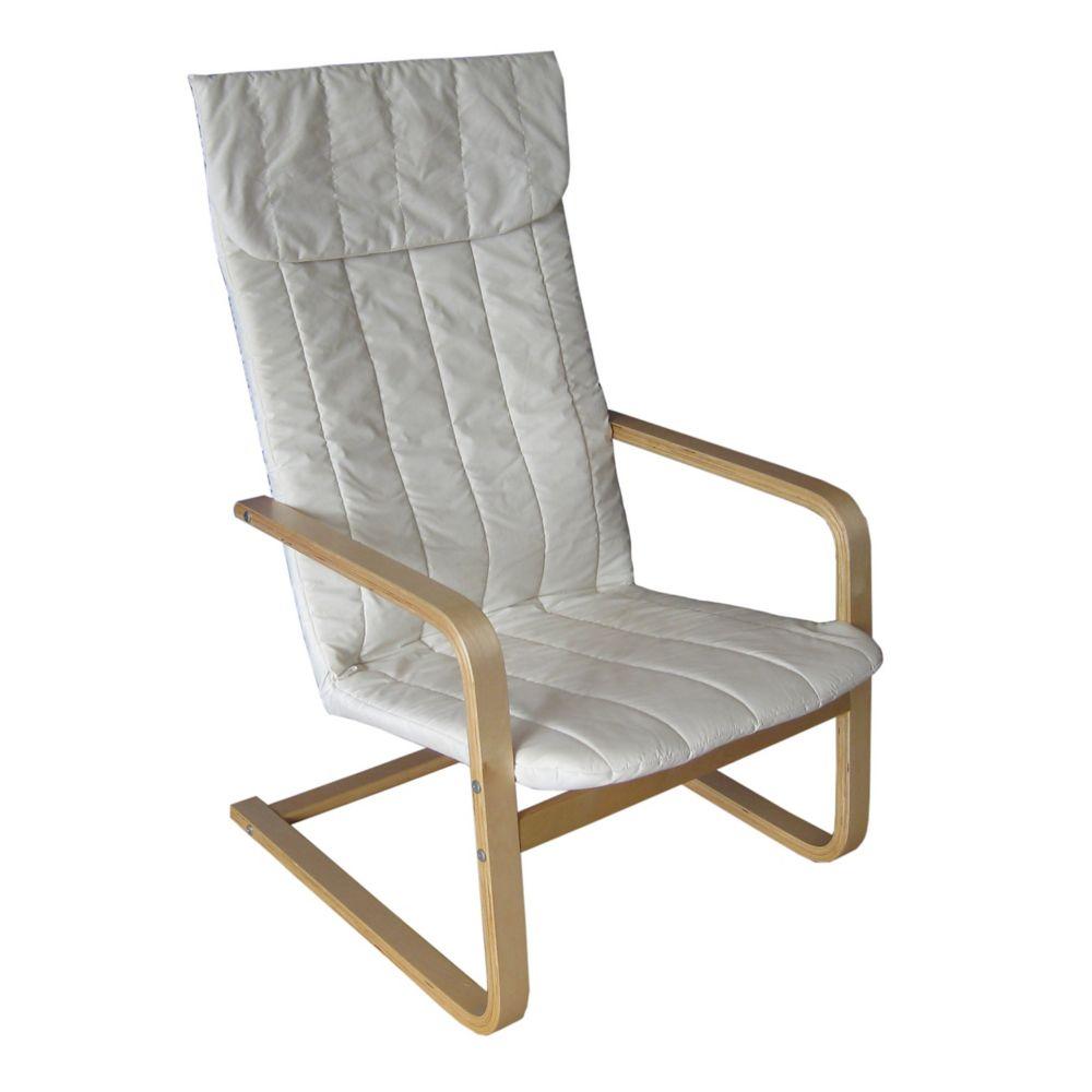 LDQ-968-C Aquios Bentwood High Back Armchair in Eggshell White
