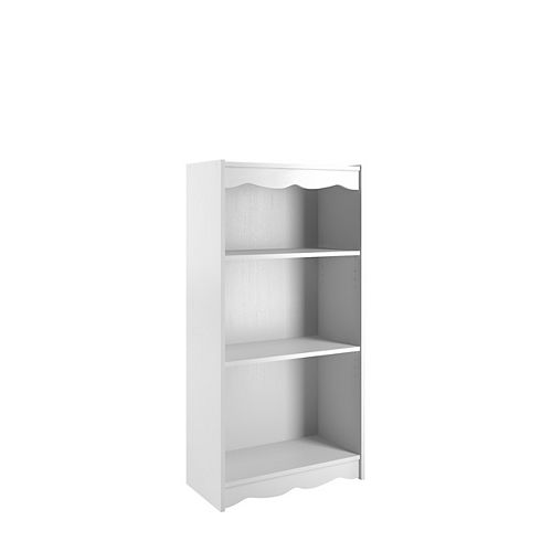 Sonax 48-inch Tall Bookcase with Adjustable Shelves in Fresh Frost White
