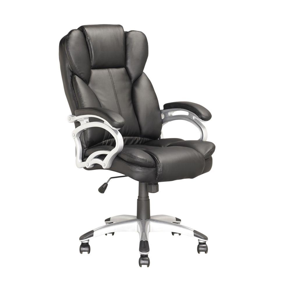 LOF-408-O Chaise de bureau exécutif en similicuir Noir