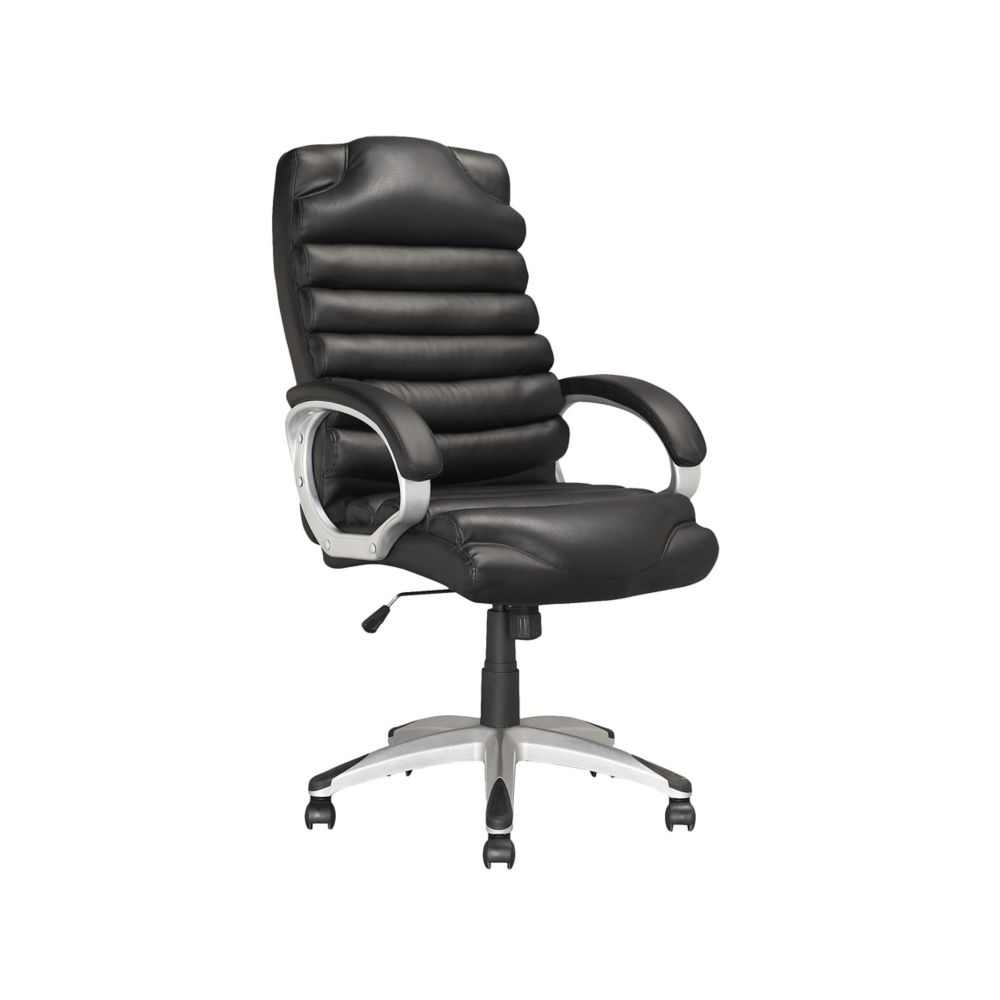 LOF-509-O Executive Office Chair in Black Leatherette