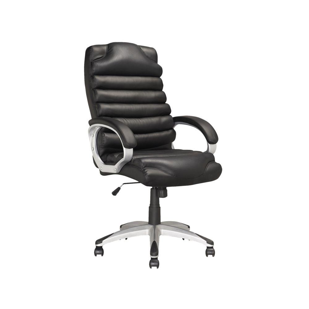 LOF-509-O Chaise de bureau exécutif en similicuir Noir