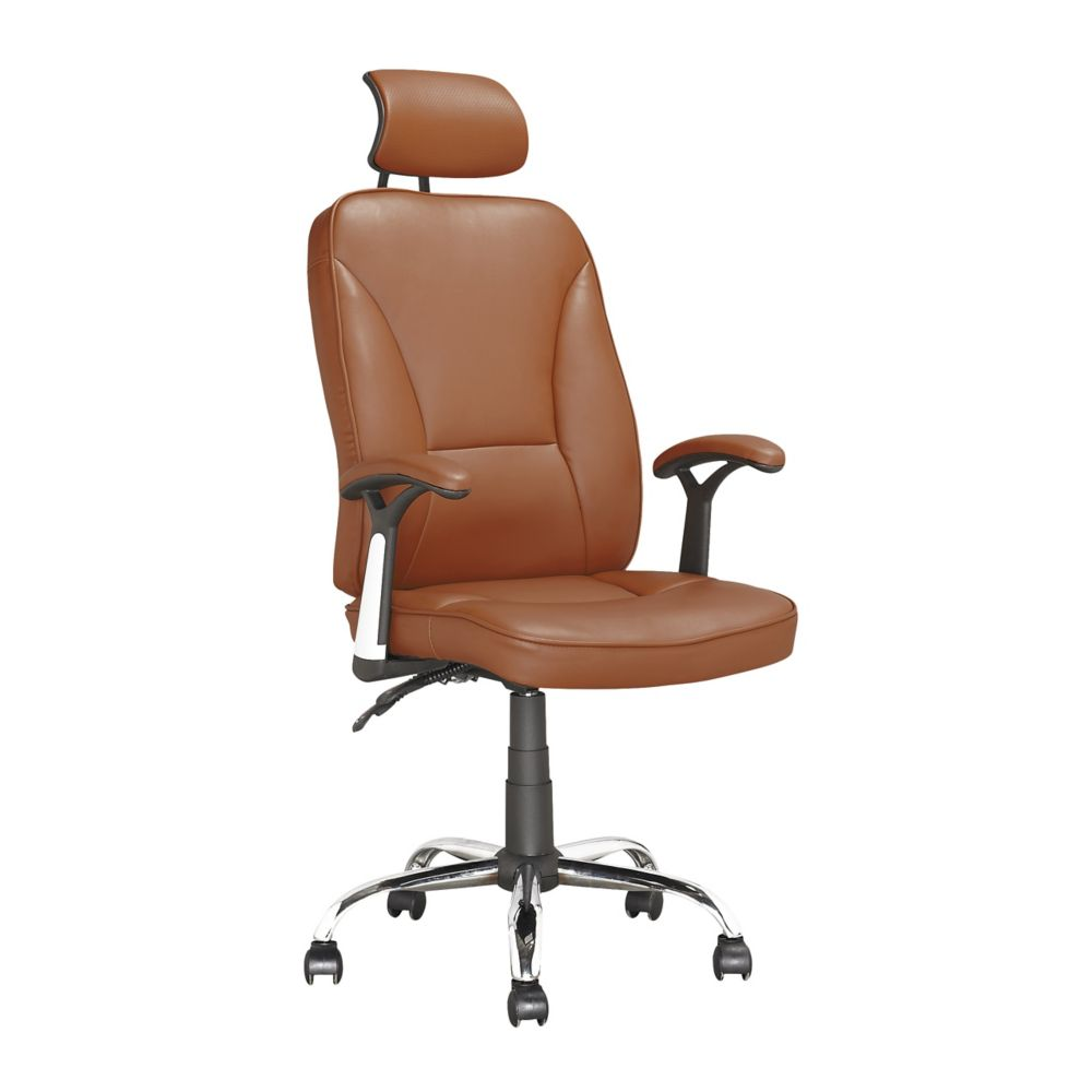 LOF-699-O Executive Office Chair in Light Brown Leatherette